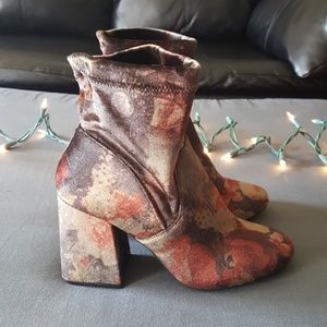 A new day faux velvet booties
